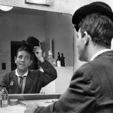 Comedian Norman Wisdom Pictured Exclusively in His Dressing Room at the Palace Theatre  Manchester