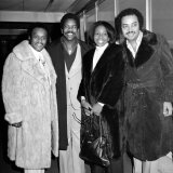 American Soul Singer Gladys Knight with Her Backing Group the Pips