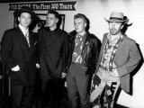 Irish Band U2 - October 1988 Left to Right - Bono  Adam Clayton  Larry Mullen and the Edge