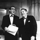 Comedian Eric Morecambe and Ernie Wise on Stage During a Comedy Routine