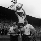 Danny Blanchflower of Tottenham Holds Up FA Cup After Beating Burnley at Wembley