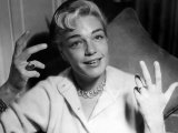 Simone Signoret Actress Gesturing with Hands