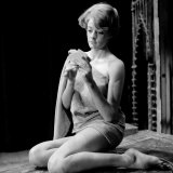 Actress Maggie Smith in a State of Undress as She Plays Strip Poker