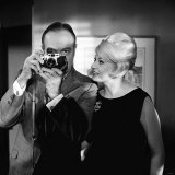 "Bob Hope with Anita Eckberg at Pinewood Studios During a Break When Filming ""Call Me Bwana"""