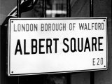Tv Programme: Eastenders December 1985 Albert Square London Borough of Walford E20 Logo