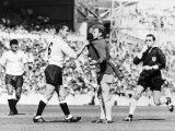 Dave Mackay Grabs Billy Bremner of Leeds by His Shirt in Match Against Tottenham
