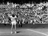 Centre Court Crowd Wildly Acclaim Bjorn Borg's Feat of Retaining Wimbledon Title