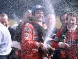 Carlos Reutemann of Ferrari Winner with Champagne After Motor Racing