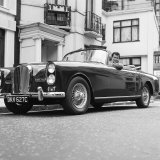 """Tony Curtis Sitting in 1938 Green Bentley in the James Bond Film """" from Russia with Love"""""""