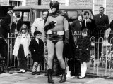Adam West Actor as Batman  Making a One Minute Film on Road Safety  May 1967
