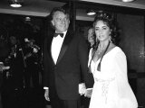 Elizabeth Taylor October 1969 with Richard Burton at Premiere of Staircase