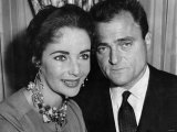 Elizabeth Taylor with Her Late Husband  Film Producer Mike Todd He Died in an Air Crash