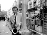 Jazz Performer Stan Getz at Ronnie Scott's Jazz Club  Master Tenor Saxophonist