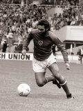 Football Player George Best in Action in an Exhibition Vetrans Match at Wembley