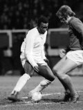 Brazilian Football Star Pele in Action For Santos Against Fulham March 1973