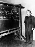 Professor Albert Einstein Giving a Lecture at the Carnegie Institute of Technology in Pittsburgh