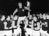 West Ham Captain Bobby Moore is Carried on His Teammates Shoulders After Winning the European Cup