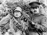 Tony Robinson and Rowan Atkinson in BBC Series Blackadder September 1989