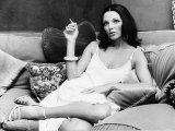 Actress Joan Collins at Her House  October 1977
