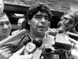 Football World Cup 1986 Diego Maradona Argentinian Footballer Talking to the Press