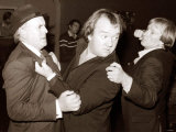 "Comedian Mel Smith with George Cole and Dennis Waterman During Filming of ""Minder"""