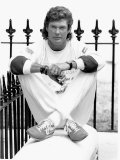 American Actor David Hasselhoff Poses During a Visit to London June 1989