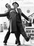 George Cole Actor in Scene with Co Star Gary Webster in Scene from Television Program Minder