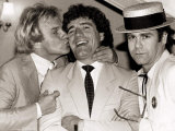 Comedian Freddie Starr Kisses England Striker Kevin Keegan