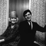 Dusty Springfield Singer with Pop Star Eden Kane February 1964 in Her Dressing Room at Croydon