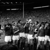 Manchester United Team Celebrate FA Cup Final Win