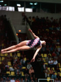 Moscow 1980 Olympic Games Great Britain's Deborah Jay in Action During the Ladies Diving Event