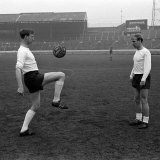 Brothers Jack and Bobby Charlton in Training in an Empty Stadium  April 1965
