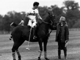 Prince Charles Sits on Horse in Polo Game July 1979