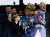 Prince William and Mother Diana at the Ladies Wimbledon Final July 1991