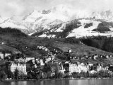 View of Montreux  on Lake Geneva  Switzerland  January 1959