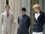 Princess Diana and Prince Charles with the Sultan of Oman July 1989