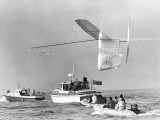 1st Man Powered Flight Across the English Channel