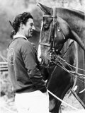 Prince Charles with His Polo Pony Pan's Folly May 1977