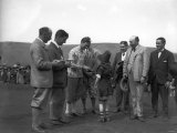The Duke of York Evan Williams and F Hodges May 1924 at a Golf Tournament