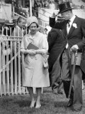 Queen Elizabeth II Walking the Course at Royal Ascot in June 1965