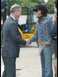 Prince Charles Meets Geri Haliwell  Lionel Richie and Lenny Kravitz During the Prince's Trust Party