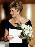 Princess Diana Royalty Attends a Concert at the Royal Festival Hall May 1991