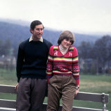 Prince Charles and Lady Diana Spencerwearing Thick Wool Sweaters Cords at Balmoral May 1981