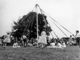 Maypole Dancing at Wishford  Wiltshire