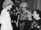 Dancer Wayne Sleep Meets Princess Diana at Palladium Theatre After Woman Golden Jubilee Concert
