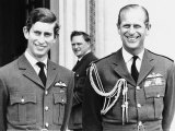 Prince Charles  the Prince of Wales  with His Father Prince Philip  the Duke of Edinburgh 1971