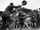World War II Women  ATS Women Take Part in a Tug of War Competition  August 1941
