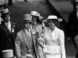 Princess Diana with Prince Charles and Oliver Hoare and His Wife Diane at Ascot Racecourse