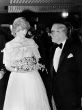 Princess Diana and Sir Richard Attenborough at London Premiere of Oscar Winning Film Gandhi