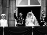 Prince Charles  Lady Diana  Queen Elizabeth II Prince Philip on Balcony at Buckingham Palace